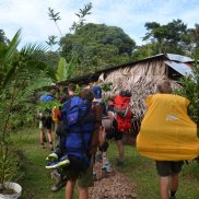 Die Ankunft im Camp