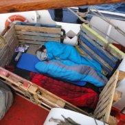 ... das Schlafen an Deck ...
