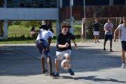 ... oder lieferten uns ein Fußballspiel