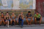 ... und genossen die in Kuba typischen Pesopizzen.